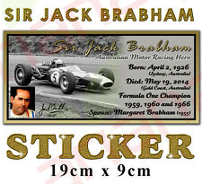 Sir Jack Brabham - Signed Sticker/Decal