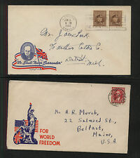 Canada   2   WW11  patraotic   covers                      MS0826
