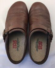 SAS Women's Tripad Comfort Shoes Clogs Slip On Size 8 WW Brown Color