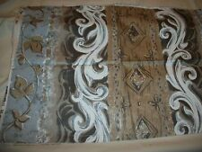 TAPESTRY / UPHOLSTERY  FABRIC 1 PIECE  1/2 YARD SCROLL & LEAF DESIGN  NEW