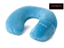 Samsonite® Inflatable Neck Pillow with removeable Cover, in Pagoda Blue travel