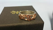 Welsh Clogau Silver & Rose Gold Tree Of Life Ring Size Q RRP £280