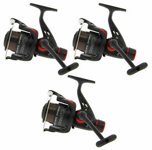 3x CKR50 Spinning, Carp, Feeder Reels Pre-Loaded with 8lb Line READY TO FISH