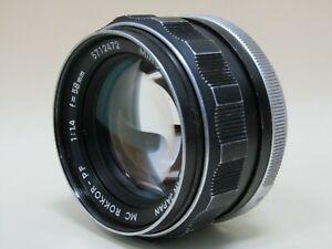 Minolta MC Rokkor-PF 1:1.4 F=58mm Camera Lens