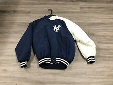 Men's Vintage New York Yankees NYY Starter Jacket Button Medium Diamond Collect