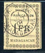 MADAGASCAR 1891 Yvert 12 gestempelt geprüft CALVES 400€(S5411