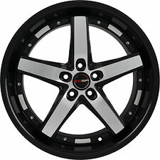 4 GWG Wheels 18 inch Black Machined DRIFT Rims fits FORD FLEX 2009 - 2018