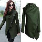 Womens Slim Trench Parka Coat Wool Long Jacket Winter Cardigan Outwear Overcoat