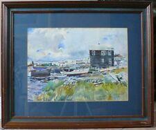 "Original Oil By Landis P Nazzaro ""Newbury Port"" Post-impressionism Fine 19 X 23"