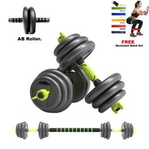 20Kg >>>FREE resistance bands<<< **3in1** dumbbell/barbel Weight Set Adjustable