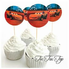 🚘12x Disney Cars McQueen Cupcake Toppers. Party Supplies Lolly Loot Bag⚡️