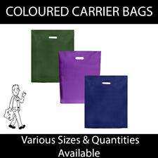 More details for strong coloured varigauge carrier bags - * dark blue * harrods green * violet *