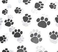 Paw Print on White Tissue Paper # 309 / Gift Wrap - Dog / Cat / Pet