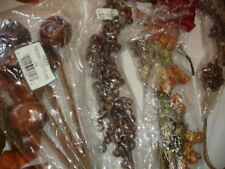 BN103     NEW LOT Fall Holiday Picks Bulk Wholesale Floral Crafts Fruit Berries