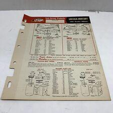 TRICO windshield wiper Lincoln Mercury Installation system plans 1941-1951