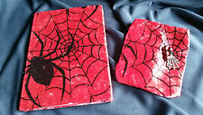 Hand Crafted Book of Shadows & Spell Bag Set. A5 Sider Web. Pagan, Wicca, Witch