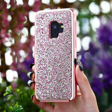 For Samsung Galaxy S9 +Luxury Hybrid 2in1 Bling Glitter Diamond Back Case Cover