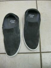 Men's Shoes Clarks Lander Step Casual Suede Leather Slip Ons gray