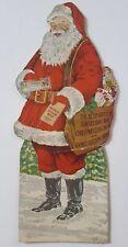 Diecut * Santa * Christmas Tree Hanger * Central Bank * Arcadia, Indiana * 1924