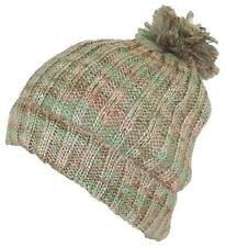 D&Y Womens Cuffed Knit Winter Beanie Hat W/Pom Pom, Cold, Snow #753 Mint/Pink
