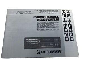 PIONEER CAR RADIO KEH-5030 INSTRUCTION MANUAL IN 4 LANGUAGE