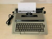 Vintage Smith Corona Enterprise XT Gray Electric Typewriter with Black Hard Case