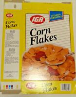 Vintage 1995 IGA Corn Flakes Flat Empty Box