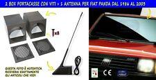 Kit Fiat Panda antenna stereo auto mascherina portacasse audio per autoradio gri