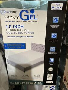 Sensor Pedic GEL Memory Foam Collection 1.5 Inch Twin Size Brand New With Tag.