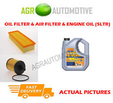 DIESEL OIL AIR FILTER KIT + LL 5W30 OIL FOR AUDI A3 QUATTRO 2.0 140 BHP 2006-07
