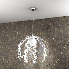 Lampadario moderno d.50 desing bianco a 1 luce tpl 1118/S-BI