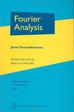 Graduate Studies in Mathematics: Fourier Analysis 29 by Javier Duoandikoetxea...