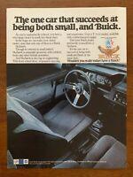 1983 Buick Vintage Car Print Ad/Poster Retro 80s Man Cave Garage Bar Décor