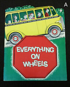 Vintage 1961 1960s Paxton Slade Everything on Wheels Illustrated Form Kut Child