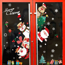 Merry Christmas Window Wall Sticker Decals Snowflake Santa Claus DIY Home Décor