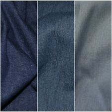 Medium weight Washed 8oz Denim 100% Cotton Fabric Material 145cm Wide FREE P&P