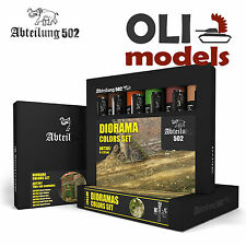 DIORAMA COLORS Weathering Oil Paint Set 6x20ml Tubes - Abteilung 502 ABT307