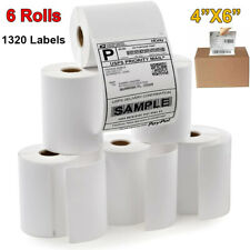 6 Roll 1320 Label 4x6 Thermal Shipping Labels For Dymo 4xl Label Writer Printer