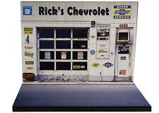 Diorama présentoir Chevrolet - Garage Rick's Chevrolet - 1/43ème - #43-2-A-A-028
