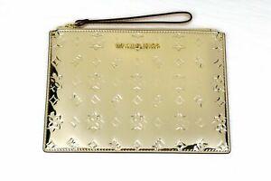 Michael Kors Extra Large Clutch Wristlet Gold - Brand New !!!