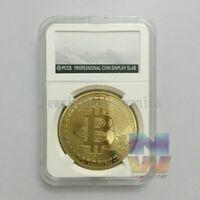 BTC 999 Gold Plated Bitcoin Souvenir Coin Collectible Art Collection Physical
