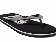 Polo RALPH LAUREN Size 15 Mens Black Grey POLO WHITLEBURY Flip Flop Sandal NWT
