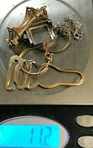 Vintage 14k Gold lot of Scrap or not  (Charm Bracelet etc,)11.2 grams