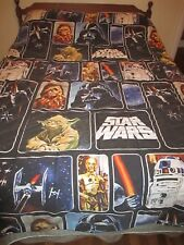 Star Wars 2 Sided Comforter Twin, Vader Yoda Chewbacca & More