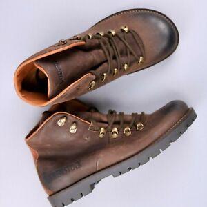 Birkenstock Hancock Nubuck Brown Leather Hiking Active Boots Size 41 NEW, DEFECT