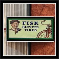 Vintage Fisk Bicycle Tire Sign Photo Keychain Bike Gift Free Shipping