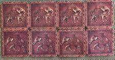 PIMPERNEL Premier Collection ELEPHANT EXPEDITION Set Of 8 Coasters BOHO Vintage