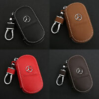 Leather Key Chain Holder Zipper Genuine Case Remote Wallet Bag for All Car Brand