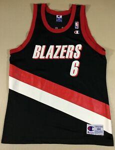 Rare Portland Trail Blazers Bonzi Wells #6 Basketball NBA Champion Jersey Size44
