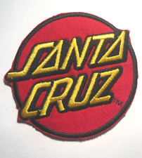 "Santa Cruz Iron On Patch 3"" Red Round Embroidered"